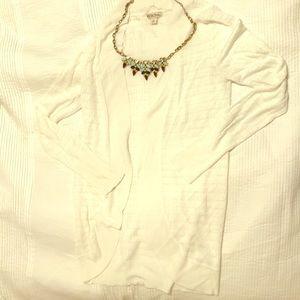 Merona White Knit Cardigan